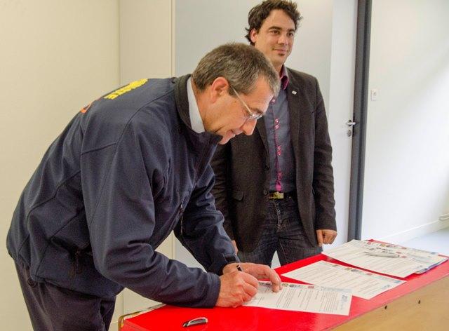 Jean-Michel Bourniquel président du CFS 89 et Frédéric Millet, président de la JCE